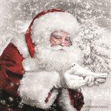 Santa's Little Friend Art Print