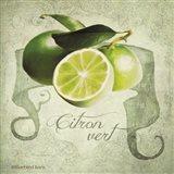 Vintage Limes Citron Art Print
