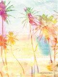 Bright Summer Palm Group I Art Print