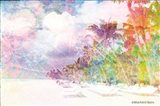 Rainbow Bright Coast and Palms Art Print