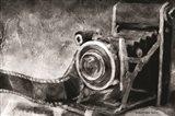 Vintage Camera Black and White Art Print