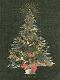 Burlap Christmas Tree Art Print