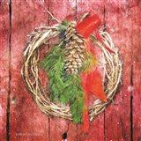 Rustic Wreath Art Print
