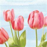 Fresh Spring Tulips I Art Print