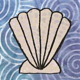 Whimsy Coastal Clam Shell Art Print