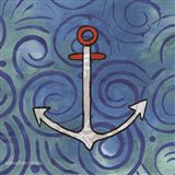Whimsy Coastal Anchor Art Print
