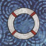 Whimsy Coastal Ring Buoy Art Print