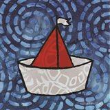 Whimsy Coastal Sailboat Art Print