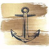 Brushed Gold Anchor Art Print