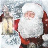 Santa Lantern Art Print