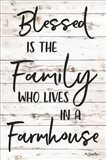 Blessed is the Family Art Print