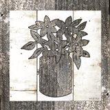 Galvanized Floral Art Print