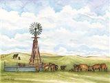 Pasture Cows Art Print