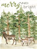 Merry & Bright Deer Art Print