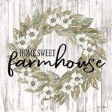 Home Sweet Farmhouse Wreath Art Print
