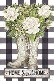 Home Sweet Home Cowboy Boots Art Print
