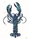 Bright Lobster Blue Art Print