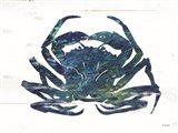 Blue Coastal Crab Art Print