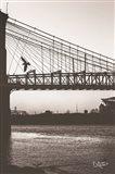 Suspension Bridge II Art Print