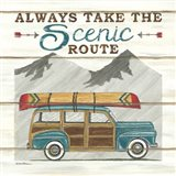 Always Take the Scenic Route Art Print