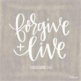 Forgive & Live Art Print