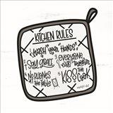 Kitchen Rules Art Print