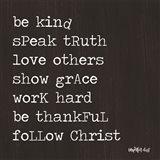 Follow Christ Art Print