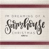 Farmhouse Christmas Art Print