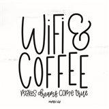 WIFI & Coffee Art Print