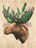 Holiday Moose Art Print