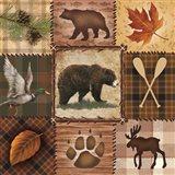 Wildlife Icons Art Print
