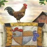 Rooster and Quilt Art Print