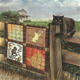 Quilt Cat Art Print