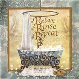 Relax, Rinse, Repeat Art Print