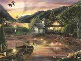 Lakefront Camping II Art Print