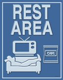 Rest Area Art Print
