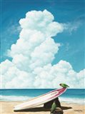 Waiting for Surf Art Print