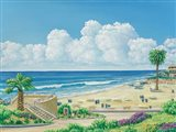 Moonlight Beach Art Print