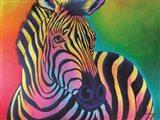 Colorful Zebra Art Print