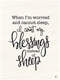 Count Your Blessings Instead of Sheep Art Print