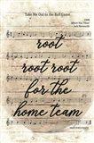 Vintage Baseball Sheet Music Art Print