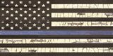 Vintage Thin Blue Line Flag Art Print