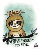 Press Snooze Art Print