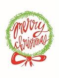 Merry Christmas Wreath Art Print