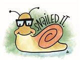 Snailed It Art Print