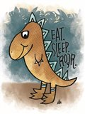 Eat, Sleep, Rawr Art Print