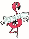 Flamingo Stay Balanced Art Print
