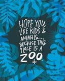 Flamingo Zoo Art Print