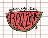 BBQ Zone Art Print