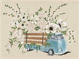 VW Bus White Art Print